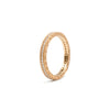 Rose Gold Double Row Milgrain Band