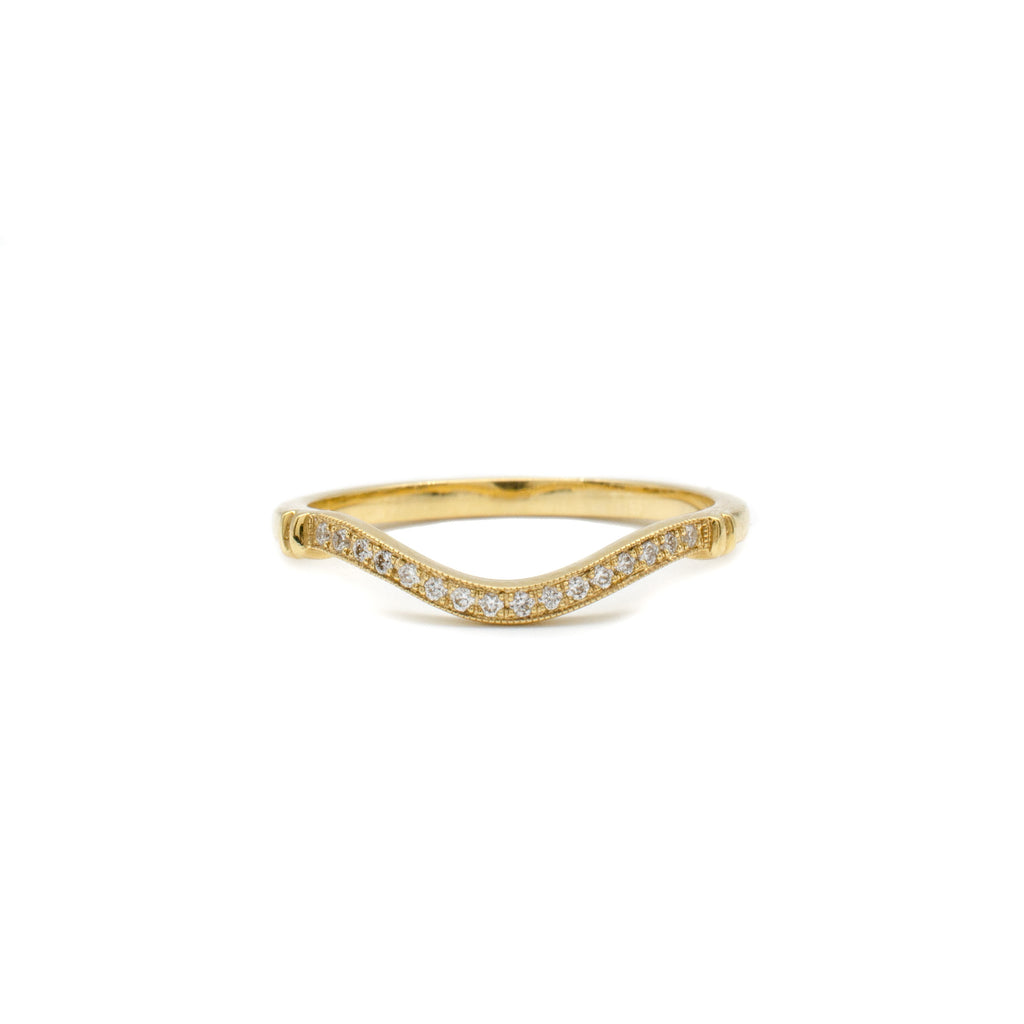 Yellow Gold Single Row Guard Band
