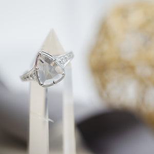 Rose Cut Pear Ring
