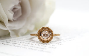 Beaded Halo Ring