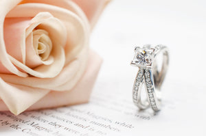 Split Shank Ring with Princess cut Center