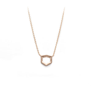 Rose Gold Geo Pendant