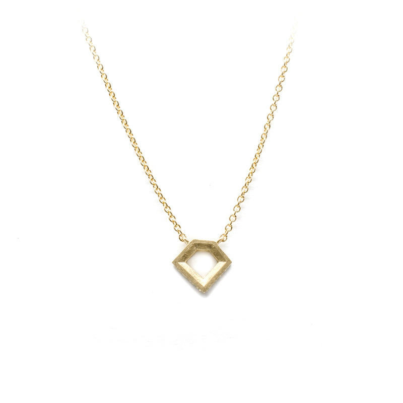 Yellow Gold Geo Pendant