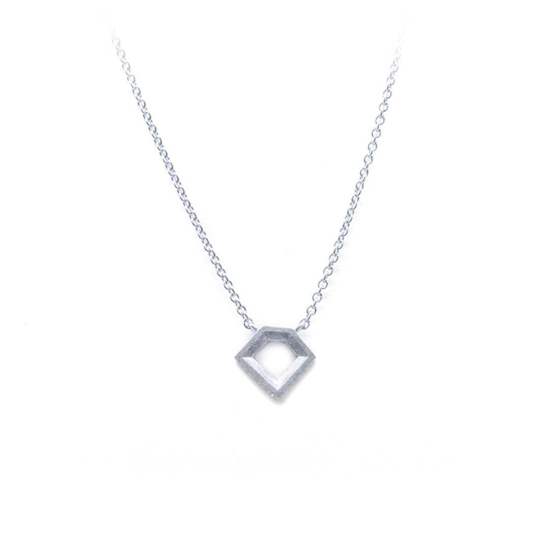 White Gold Geo Pendant