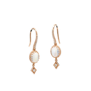 Moonstone Crown Dangles