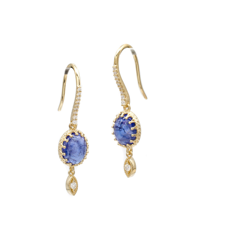 Tanzanite Crown Dangles
