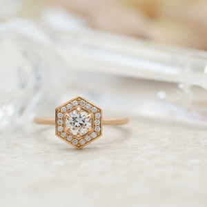 Hex Halo Ring