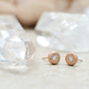 2.2 Rose Gold Pebble Studs