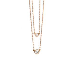 .25ct Everyday Necklace in Rose