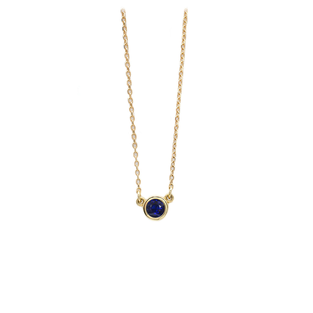 4mm Sapphire Everyday Necklace in Yellow