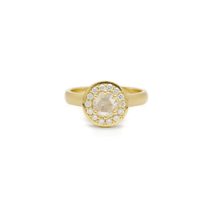 Gold Diane Ring (Rose Cut)
