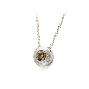 Cognac Diamond Submarine Pendant