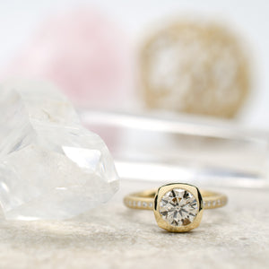 Kass Ring with 1.24ct Round