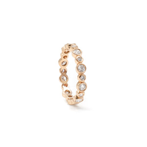 Rose Gold Alternating Bezel Ring