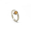 Offset Fancy Cognac Pear Ring
