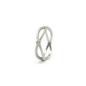 White Gold Infinity Band