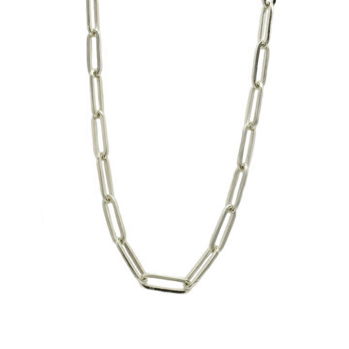 White Gold Paperclip Chain