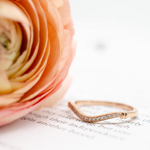 Rose Gold Single Row Guard Band