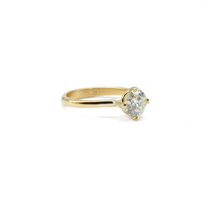 1 Carat Yellow Gold Solitaire