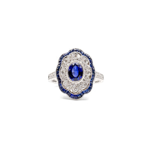 Victorian Style Sapphire Ring
