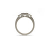 3 Stone Bezel Ring (Square)