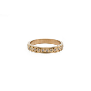 Diamond Stacking Band Rose