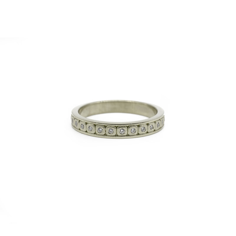 Diamond Stacking Band White