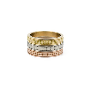 Triple Row Square Diamond Stacking Band