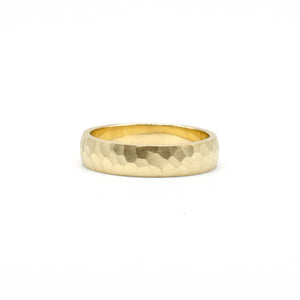 5mm Yellow Hammered Band