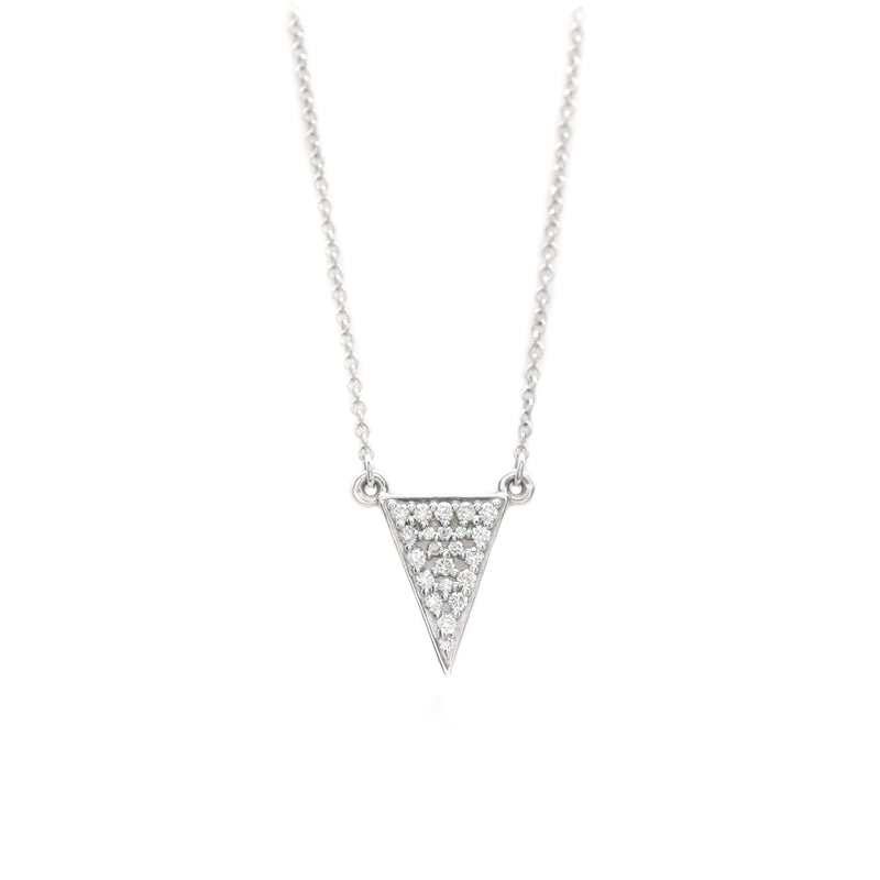 Solid Pave Triangle Necklace