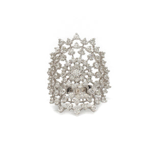 Diamond Star Burst Ring