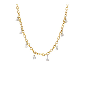 Diamond Sparkle Drop Necklace