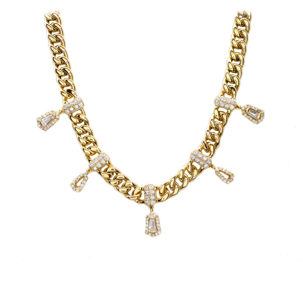 Curb Chain Diamond Necklace