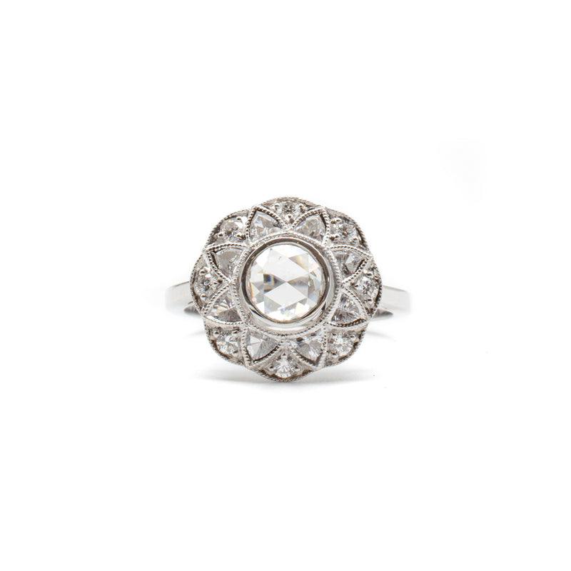 Harriet Ring with White Sapphires & Diamonds