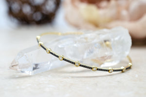 Bezel Pave Black Diamond Bracelet