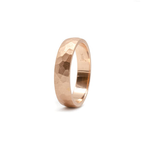 5mm Rose Hammered Band