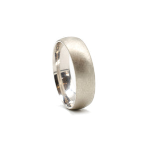 White Gold 6mm Band
