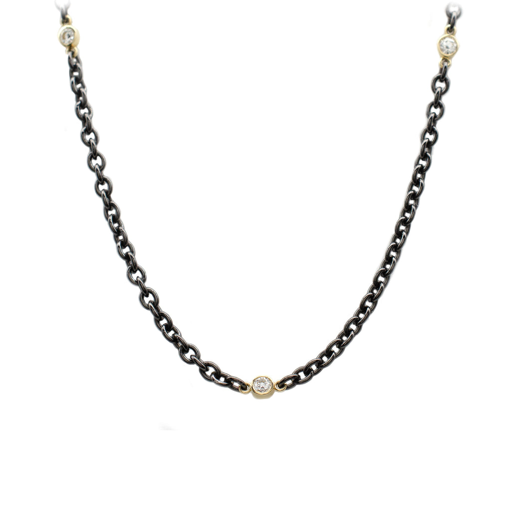 Black & Gold Diamond Necklace