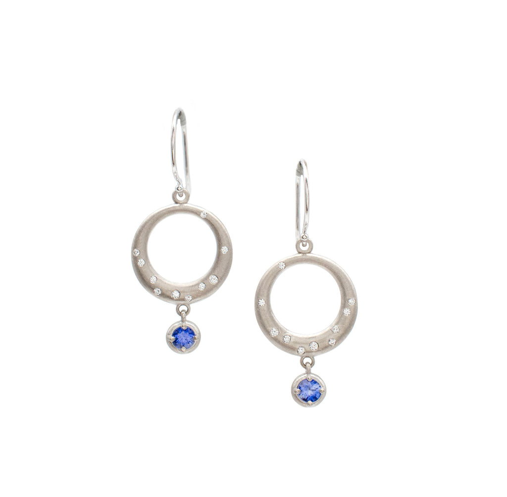 Sapphire Moonrise Earrings