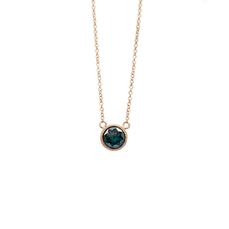 Teal Diamond Necklace