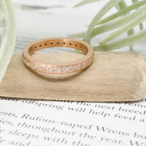 Rose Gold Medium Pattern Band