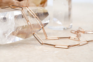 Rose Gold Petite Paperclip Chain