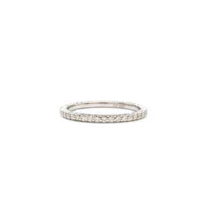 Tiny Shared Prong Ring in White