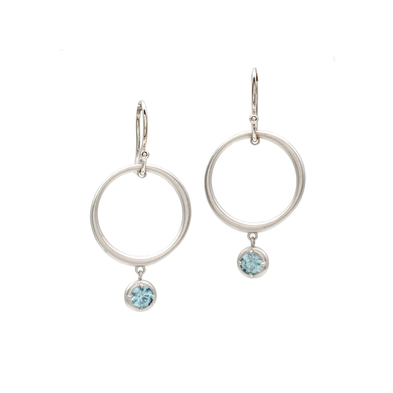 Blue Zircon Double Dangles