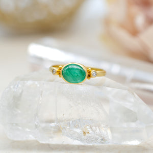 1.3ct Cabochon Emerald Ring