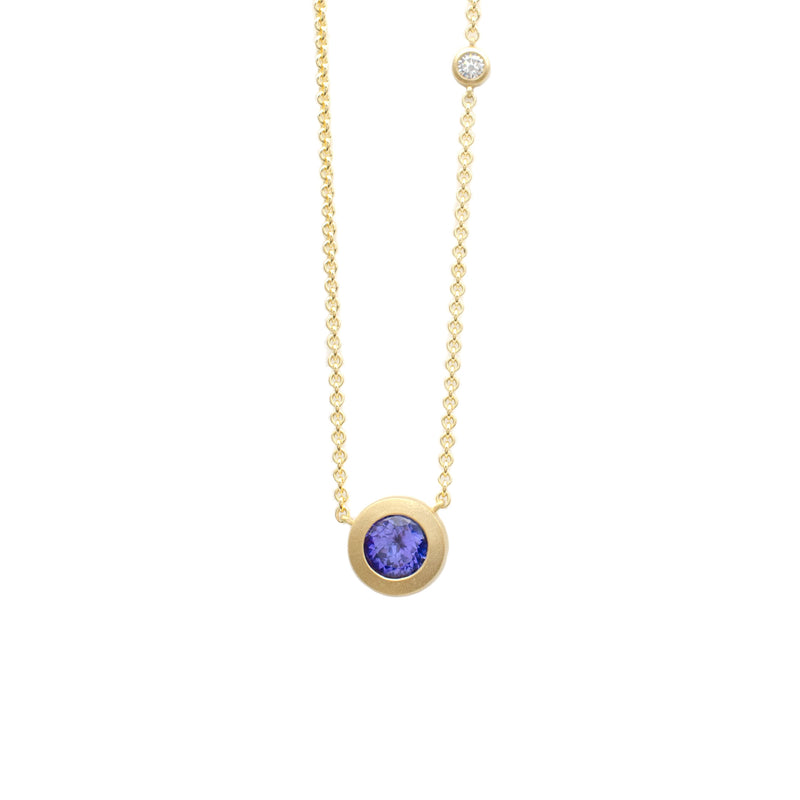 Tanzanite Bezel Necklace