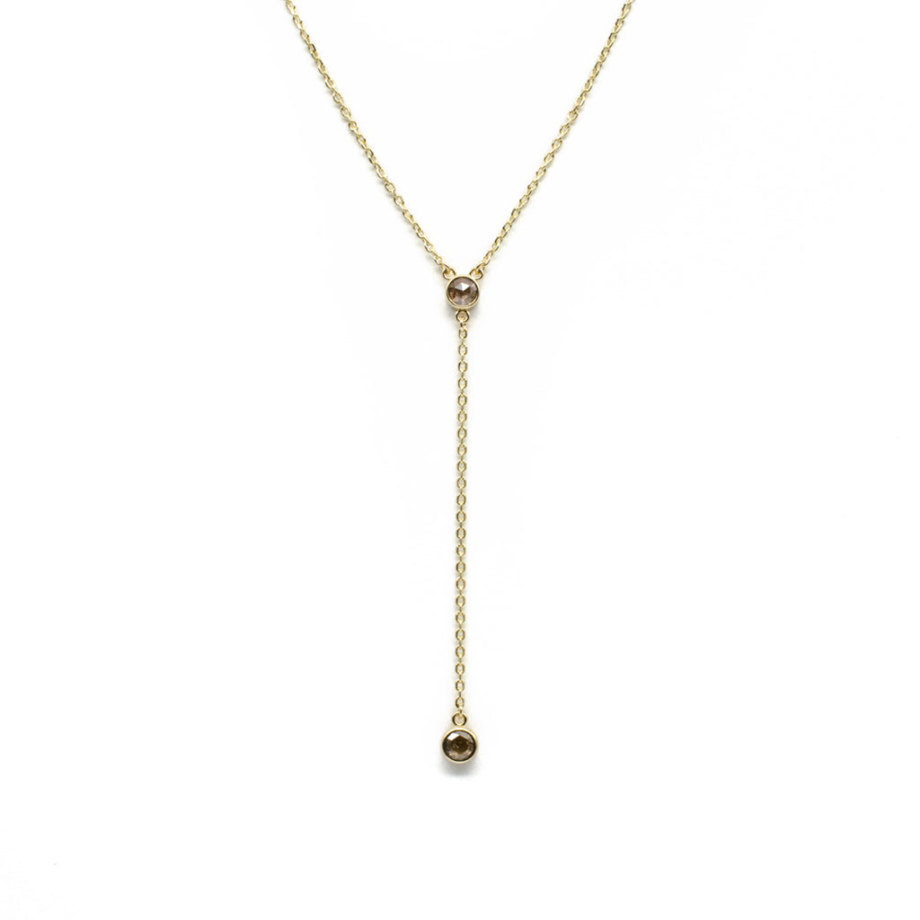 Rose Cut Diamond Lariat