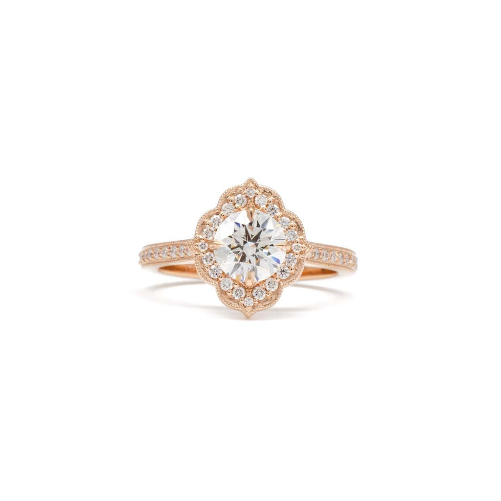 Scalloped Halo Ring