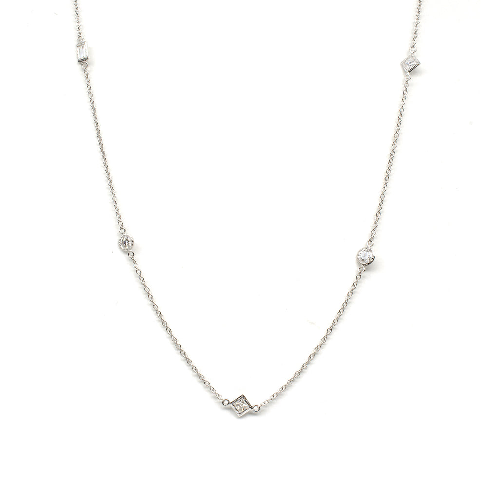 Diamond Station Necklace