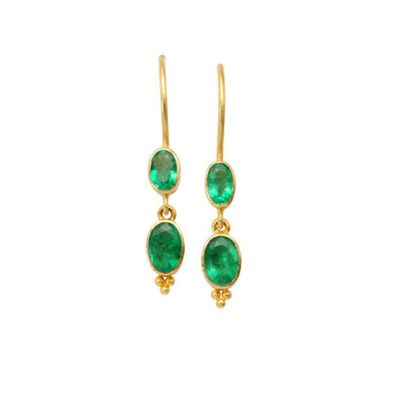 Oval Emerald Drops
